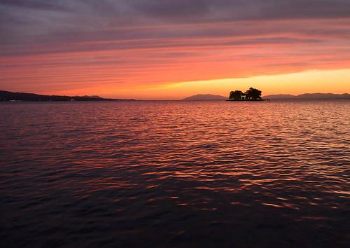 sunset lake japan ngc 日本 shimane 夕景 shinji 夕焼け 宍道湖 松江市 島根県 02景色