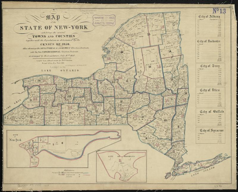 Map Of New York Towns.Map Of The State Of New York Exhibiting The Several Towns Flickr