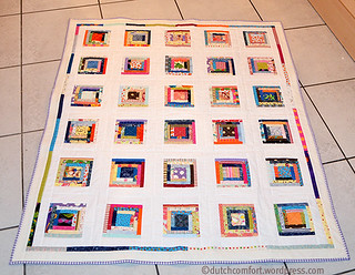 Scrappy cabin quilt