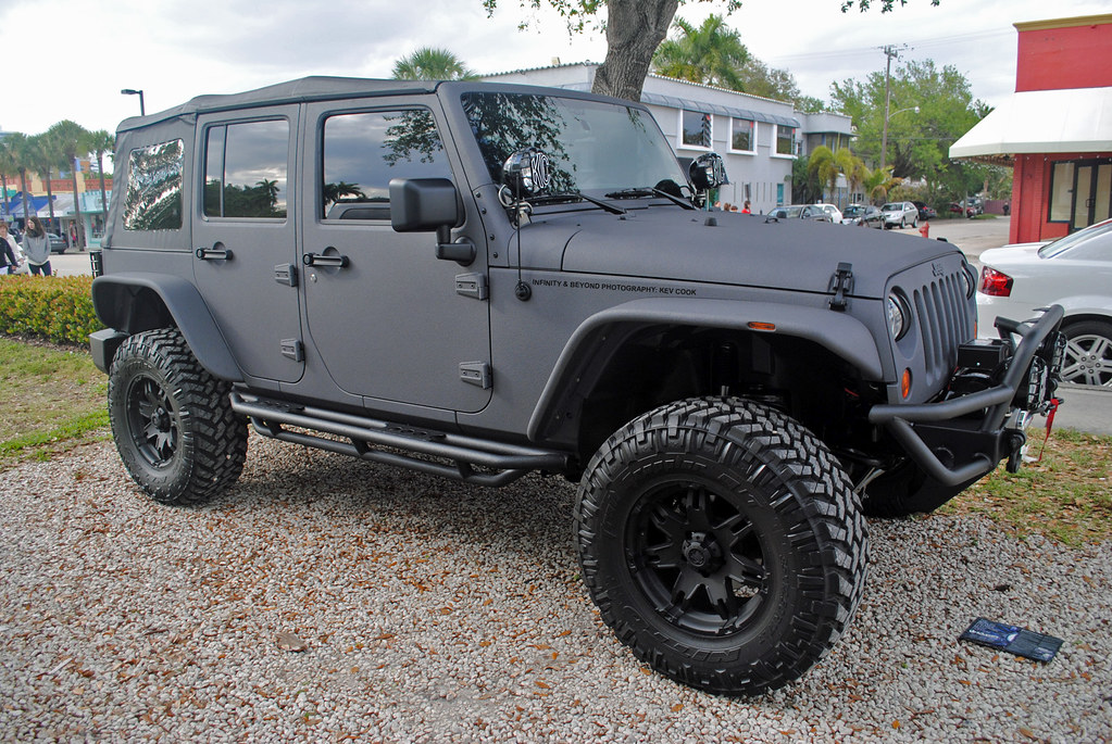 Grey Jeep Wrangler >> Matte Grey Vinyl Wrapped Jeep Wrangler Kev Cook Flickr