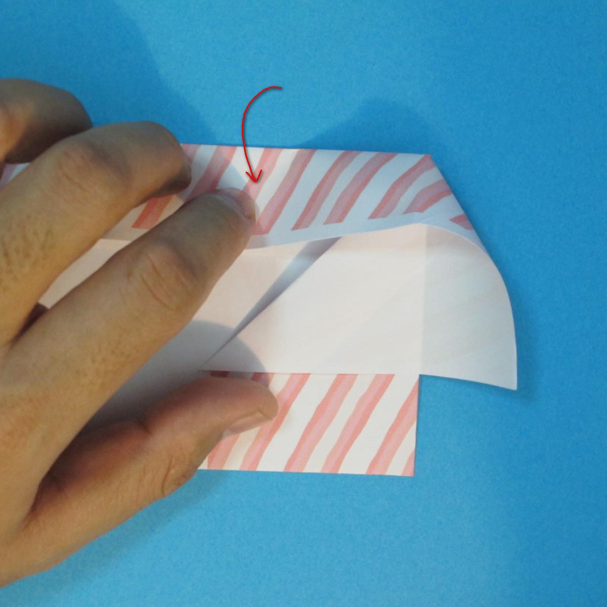 วิธีพับกล่องกระดาษรูปหัวใจส่วนฐานกล่อง 016