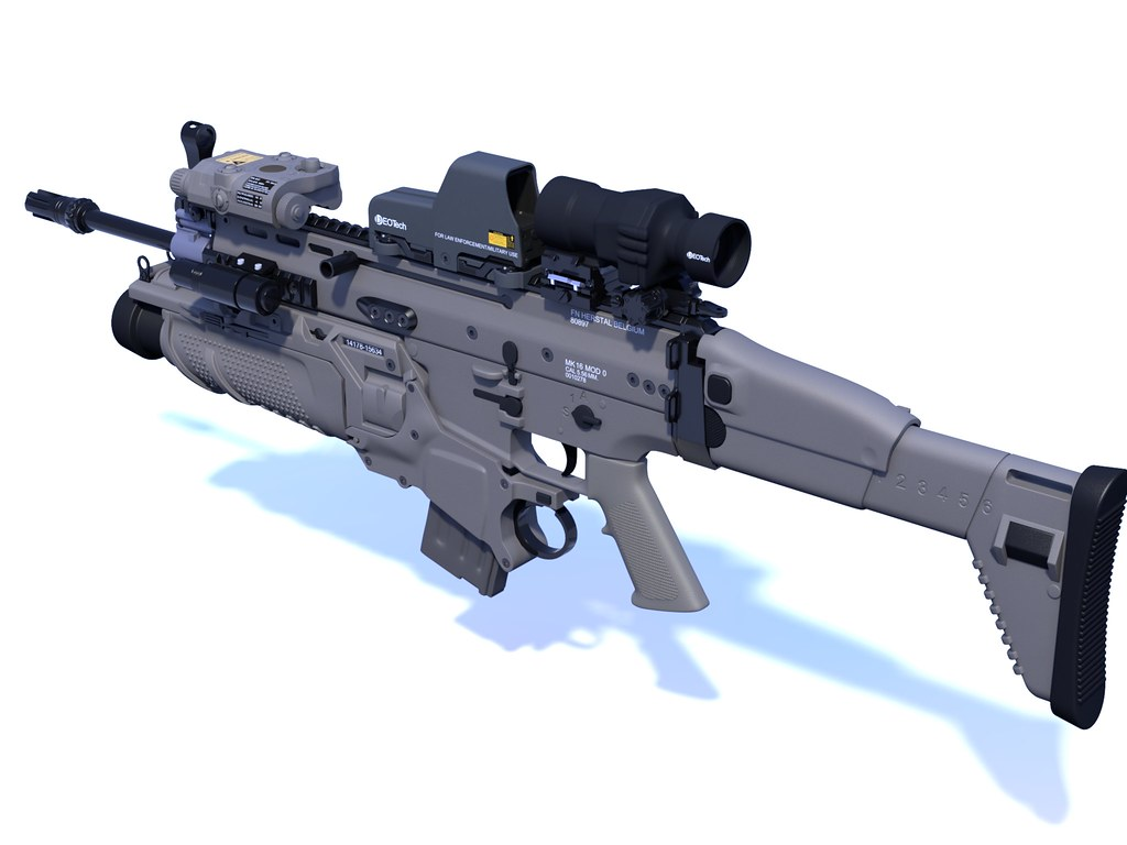 FN SCAR®-L STD Rifle | An incredibly highly detailed model d