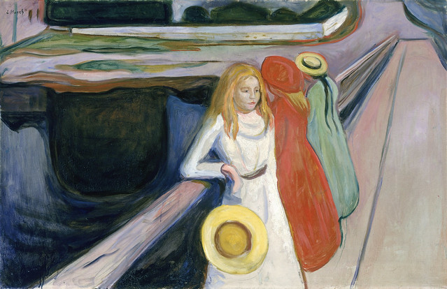 Edvard Munch -  Girls on the bridge [1901]