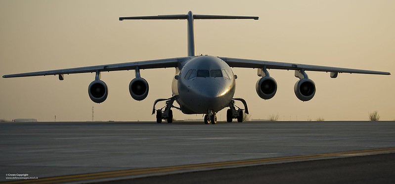 RAF BAE146 QC in the Middle East