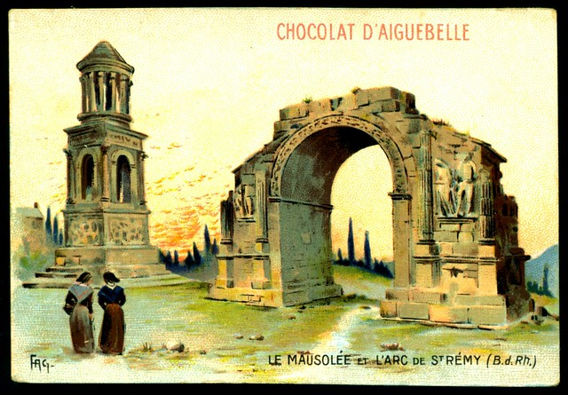 French Tradecard - Roman Remains nr St Remy
