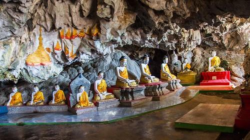 dosvěta bagin barma budha myanmar barma3 chrám jeskyně socha kayinstate myanmarburma mm