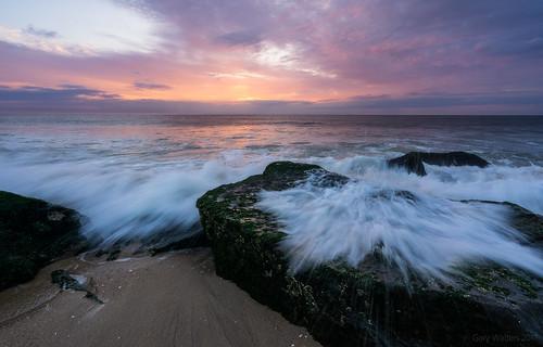 colorful sunrise sandy hook sel1635z sky splash beach ocean shore sandyhook garywalters