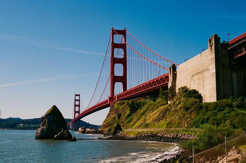 Golden Gate Bridge viewed from near Fort Baker