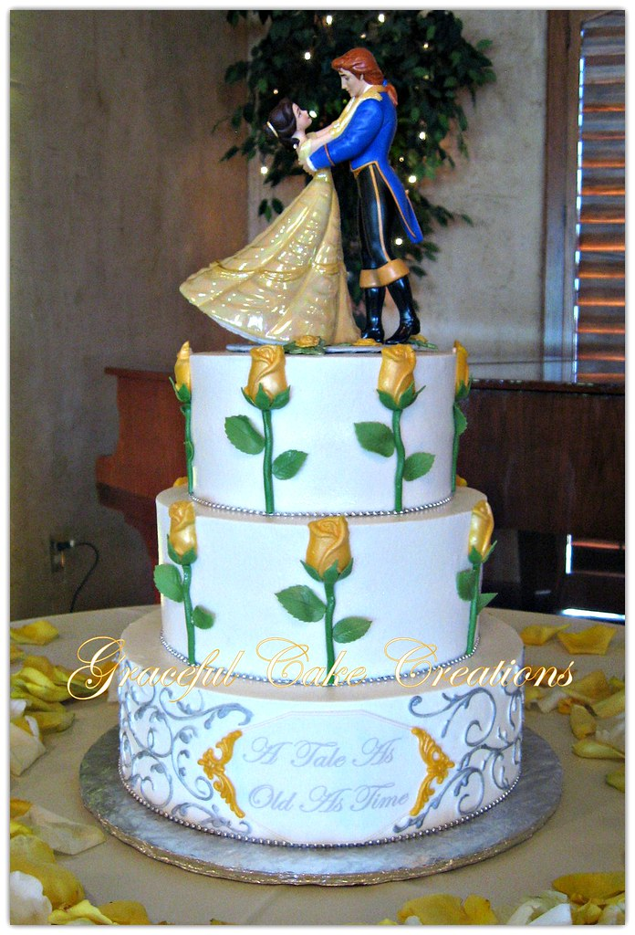 Beauty And The Beast Themed Wedding.Beauty And The Beast Themed Wedding Cake Grace Tari Flickr