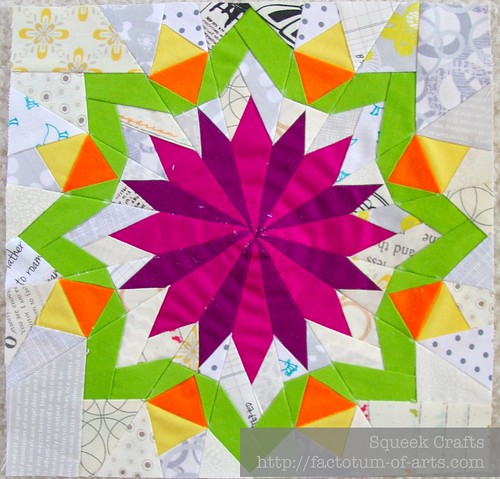 Blooming Hot Paper Pieced Block | by SqueekCrafts
