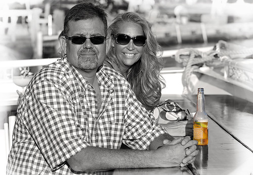 mexicanbeer coronaextra bow boat lagoon monochrome selectivecolour isolatedcolour blackandwhite couple smile sunglasses checkedshirt goatee longblondehair middleagedcouple prettywoman handsomeman onboard ship cruise dinnercruise sunsetcruise foldedhands marcoislandprincess marcoisland usa southwestflorida florida people portrait relaxing sunny hot romantic romanticcruise beer cerveza 啤酒 bier serbesa bière μπύρα בִּירָה बीयर birra ビール piwo cerveja пиво öl bia flickrclickx