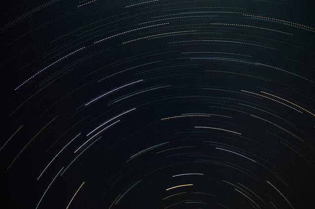 Star trails, Nandi Hills, Bangalore