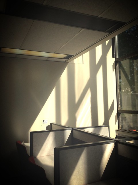 Redpath library building - morning study space in the sun