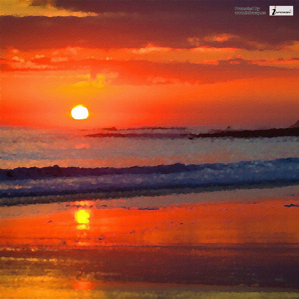 Surfing On A Sunset Ipad Wallpaper Surfing On A Sunset Ipa
