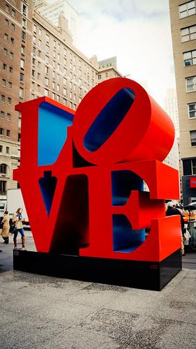 Robert Indiana Love Sculpture, 55th Street & 6th Avenue   by Jeffrey