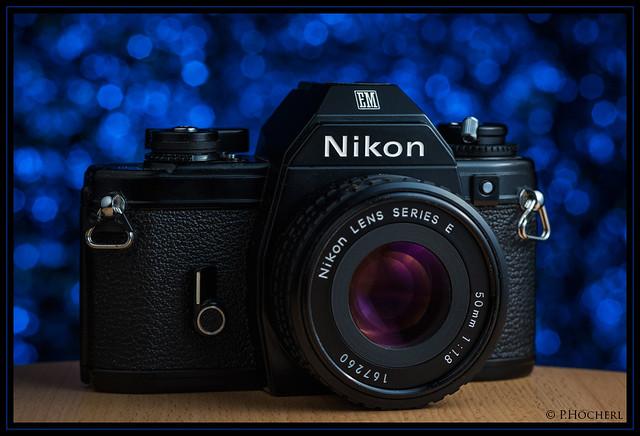 Nikon EM with Nikkor 1.8/50mm E
