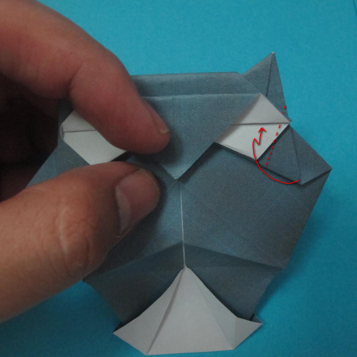 วิธีการพับกระดาษเป็นรูปนกเค้าแมว 025