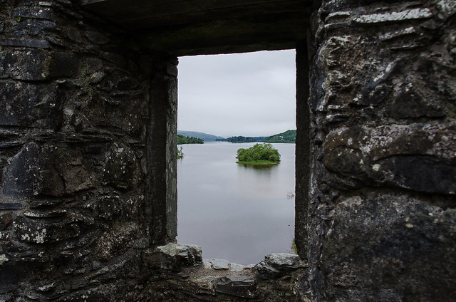View to Loch Awe from remains of Kilchurn Castle