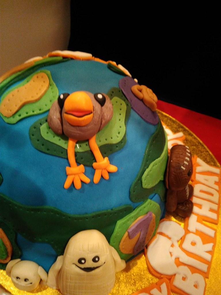 Pleasant Sophies Little Big Planet 7Th Birthday Cake Neil Fryatt Flickr Birthday Cards Printable Riciscafe Filternl