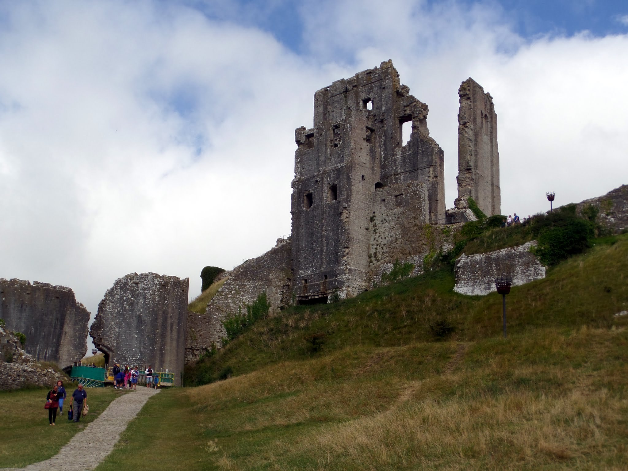 The ruins of Corfe Castle