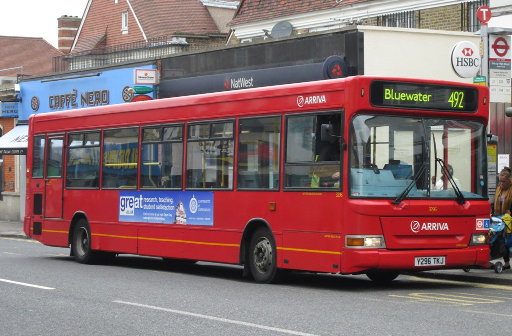 Route 492 Arriva 3296 Y296TKJ Sidcup | South London
