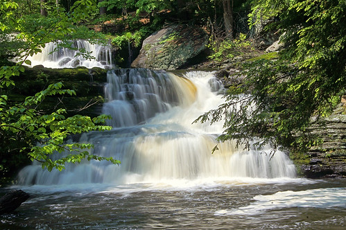 waterfall dingmanscreek delawarewatergapnra factoryfalls childsrecreationalarea highwaterhighsunshine