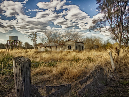 painting landscape oilfilter ruralscene mininglease