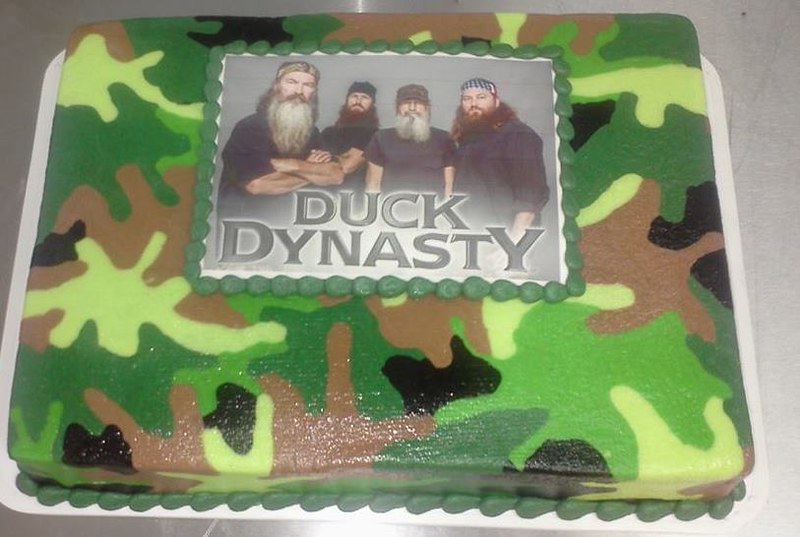 Outstanding Duck Dynasty And Camo Sheet Cake Wedding Birthday And Cel Flickr Personalised Birthday Cards Veneteletsinfo