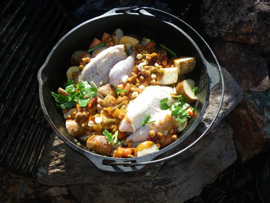 Thanksgiving Dutch Oven Bronze Chickens