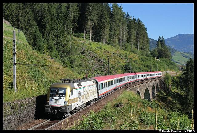 MÁV 470 010 + OIC 30592, Bad-Hofgastein 1-8-2013