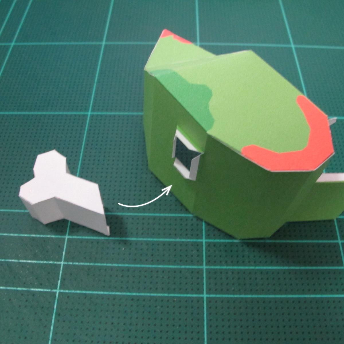 วิธีทำโมเดลกระดาษตุ้กตา คุกกี้ รัน คุกกี้รสซอมบี้ (LINE Cookie Run Zombie Cookie Papercraft Model) 012
