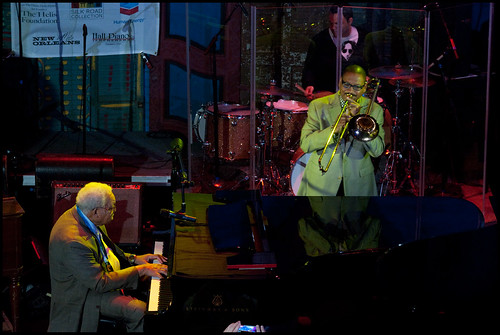 Ellis Marsalis with Delfeayo Marsalis at Piano Night 2014. Photo by Ryan Hodgson-Rigsbee www.rhrphoto.com