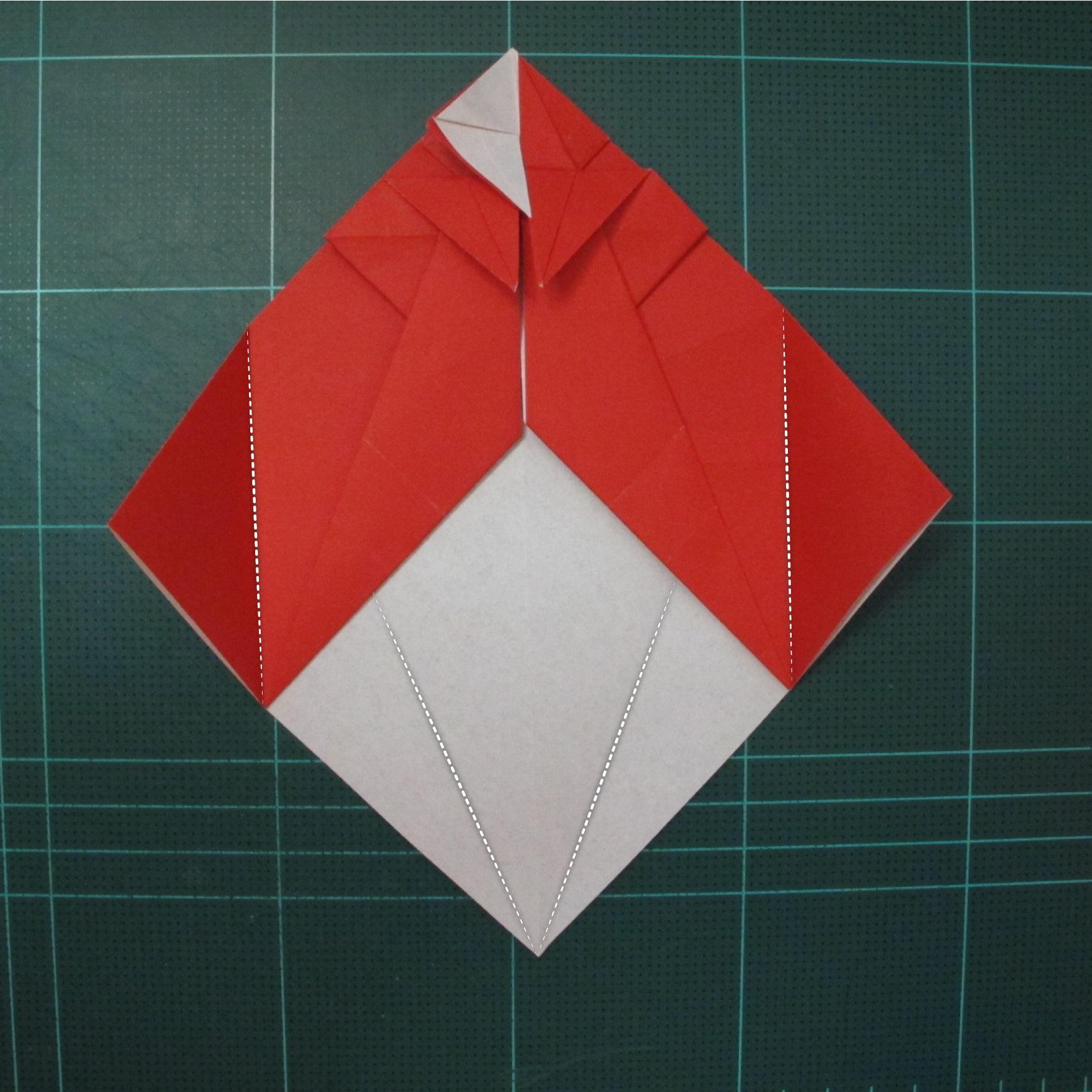การพับกระดาษเป็นรูปสัตว์ประหลาดก็อตซิล่า (Origami Gozzila) 025