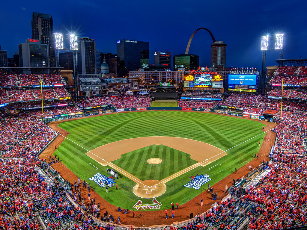 Blue Hour at Busch Stadium for Game 3 of the 2013 World Se