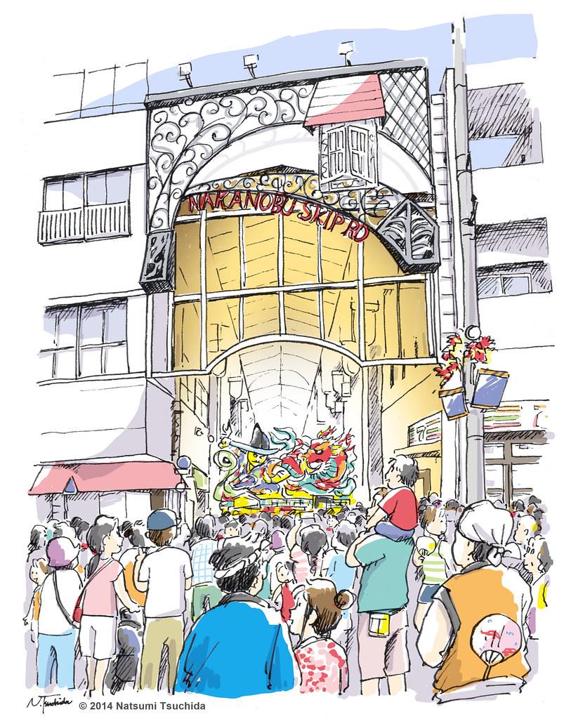 中延ねぶた祭り Nakanaobu Nebuta Festival 2012年に行われた