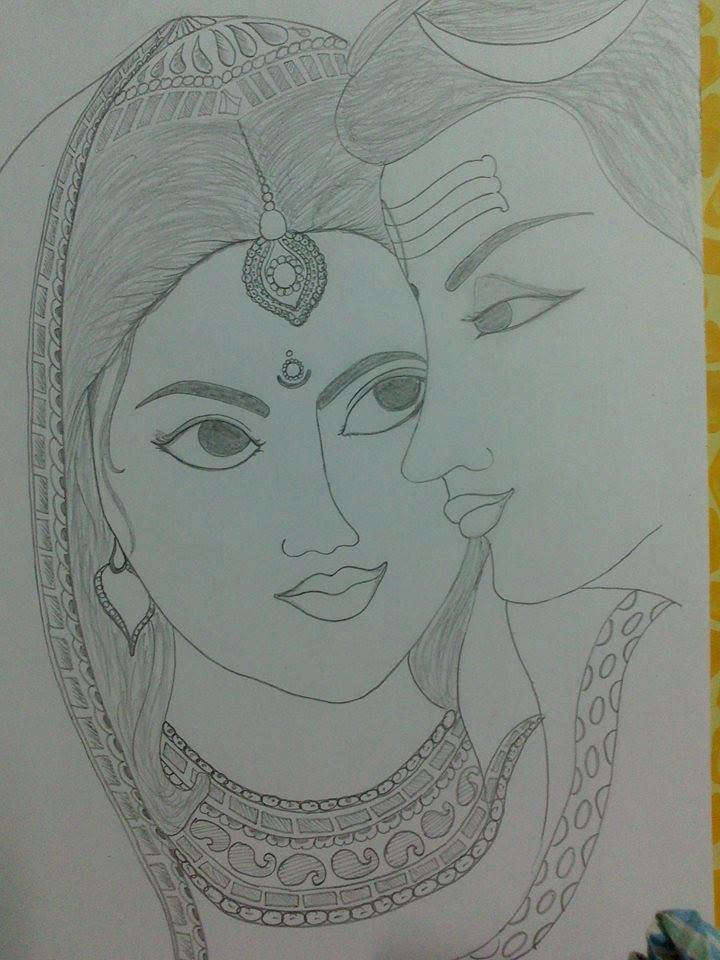 Lord Shiva Sketch Subhash Sharma Flickr
