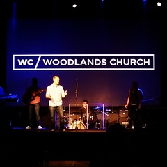 Welcoming members to @woodlands_church.