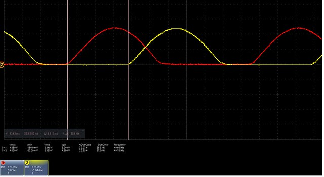 positive half dutycycle from signal 1 and 2 arduino