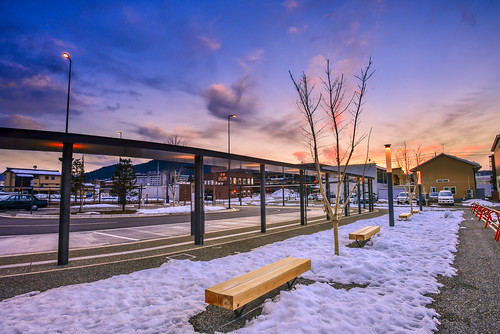 japan gifuprefecture takayama sunset sky cloud hida outdoors scenery takayamastation jrstation 日本 岐阜縣 高山市 jr高山駅 夕陽 winter snow 飛驒高山