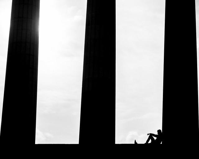 Taking a rest Edinburgh National Memorial.