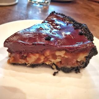 Choco caramel pecan tart   by rockerfem