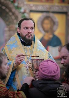 Литургия в Иверском монастыре 600