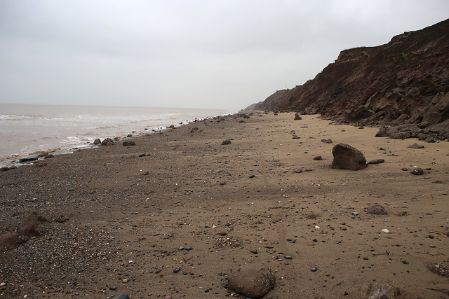 The coast between Withernsea and Easington