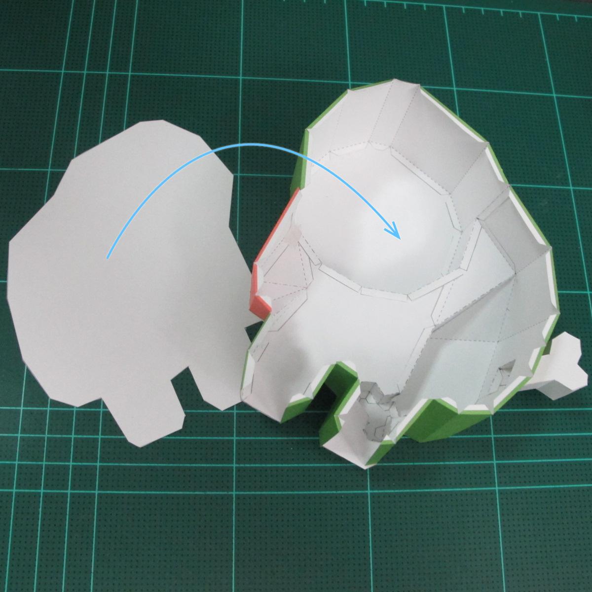 วิธีทำโมเดลกระดาษตุ้กตา คุกกี้ รัน คุกกี้รสซอมบี้ (LINE Cookie Run Zombie Cookie Papercraft Model) 025