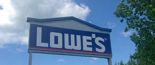 Lowe's Sign Lowe's Home Improvement WareHouse store Pics by Mike Mozart of TheToyChannel and JeepersMedia on YouTube. Lowes, Lowes Store, Lowes Home Improvement Warehouse, #LowesStore #LowesHomeImprovement #Lowes #LowesSign #LowesLogo | by JeepersMedia