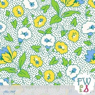 Toybox IV Morning Glories Blue - Blue Hill Fabrics | by MissouriMel
