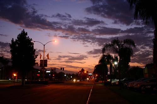 california foothills sunrise route66 purple monrovia losangelescounty us66 usroute66