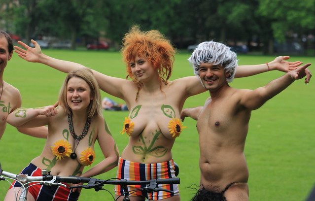 Edinburgh's World Naked Bike Ride 2014