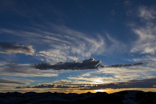sunset summer mountain snow clouds nationalpark colorado unitedstates places rockymountainnationalpark