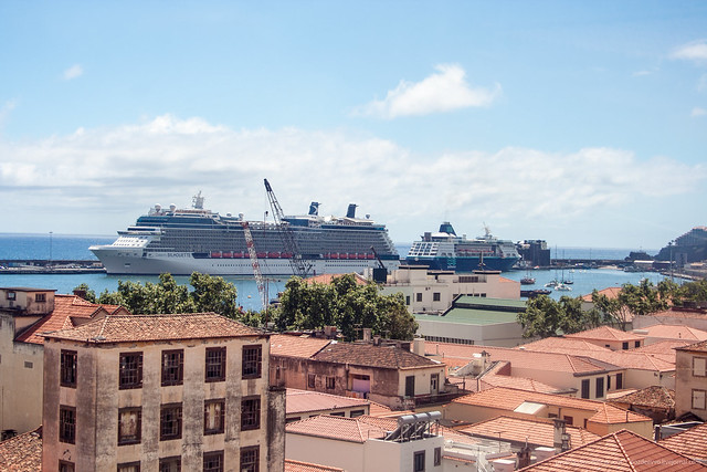Cruise ships Selebrity Silhouette and Pullmantur Empress in Funchal, Madeira